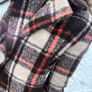Hot & Delicious Wool Plaid Coat M NEW